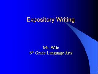 Ways of developing expository essay